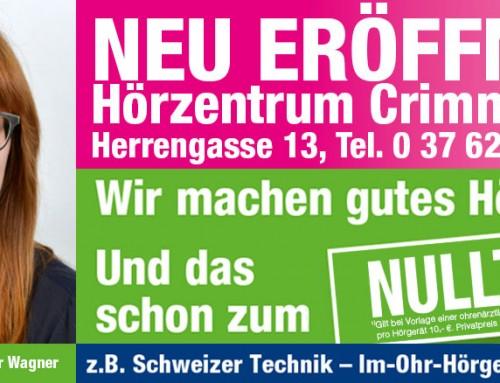 Neues prooptik hörzentrum in Crimmitschau
